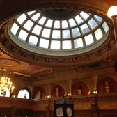 Domed ceiling inside joint stock