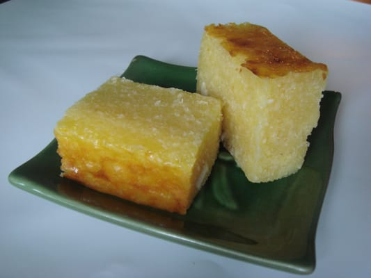 bingka ubi- coconut, tapioca and custard cake | Yelp
