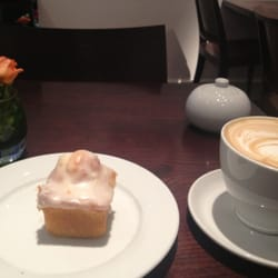 Wonderful lemon cake and a beautifully prepared but not what I ordered coffee