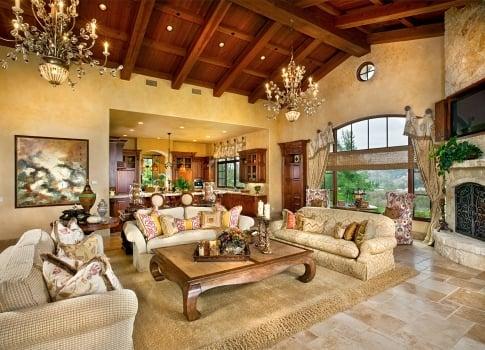 Sitting pretty in a grand living room interior design by for Grand living room interior design