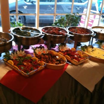 Some of the buffet spread...about half of it!