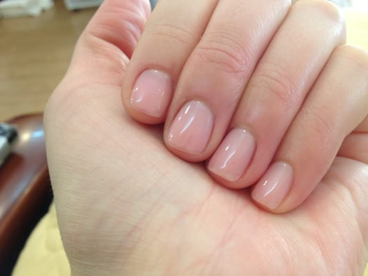 Love this natural clean gel nail, strawberry S!! | Yelp