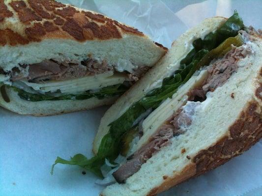 ... , roast beef, lettuce, pickles, red onions w/ horseradish mayo | Yelp