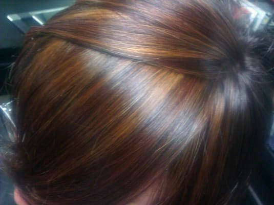 Mahogany Copper Brown Hair Color Rich gold,copper,mahogany in a