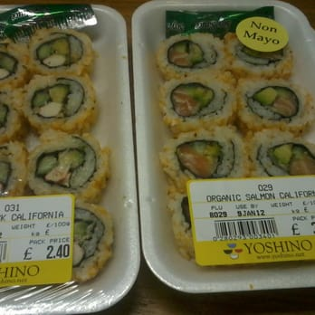 Crabstick california and organic salmon california