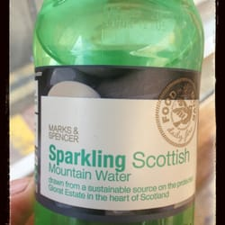 This 500ml bottle of sparking water is 20p cheaper in Edinburgh than Glasgow