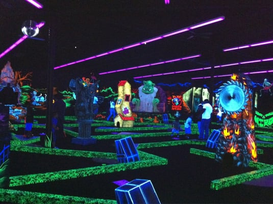 glow in the dark monster mini golf