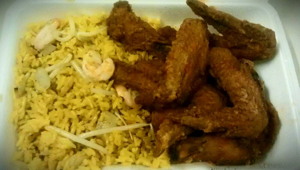 Buffalo Chicken Wings and Shrimp Fried Rice!   Yelp