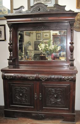 Magnificent ornate antique sideboard.  Yelp