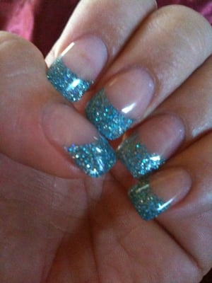 glitter acrylic fill with gel $25 w/o tip | Yelp