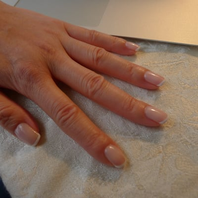Shellac gel French manicure | Yelp