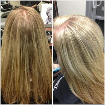 White Blonde Highlights In Blonde Hair Golden blonde to frosty white