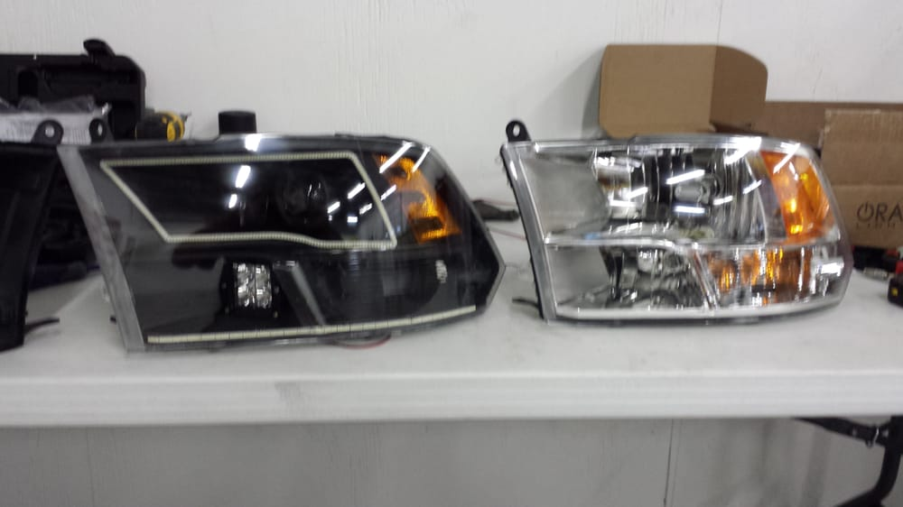 Before And After Custom Headlight Retrofit With Bixenon