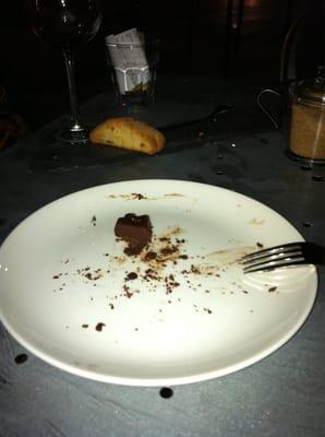 chocolate cake remnants