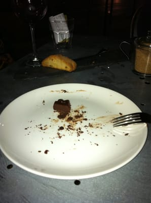 chocolate cake remnants 
