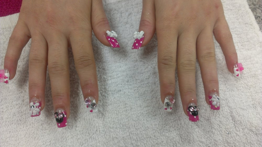 Mickey Mouse Nail Art Theme With Gel Fullset Yelp