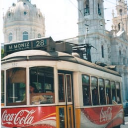 What would Lisbon be without its Tram 28?  Seen here in front of Basilica da Estrela.