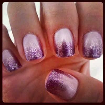 Light lavender/silver purple ombre gel mani - by Sophia | Yelp