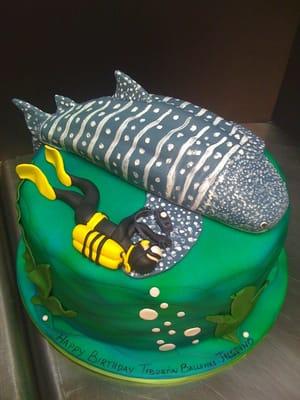 Shark Cake Toppers Bigger Cupcake Cake