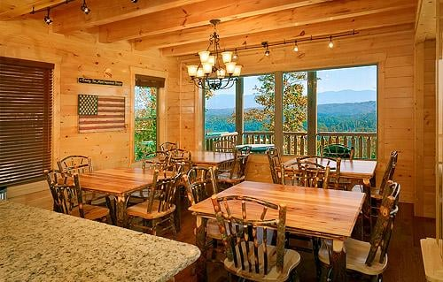 Kitchen Area Inside A Dollywood Cabin Yelp