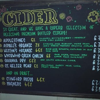 Cider selection