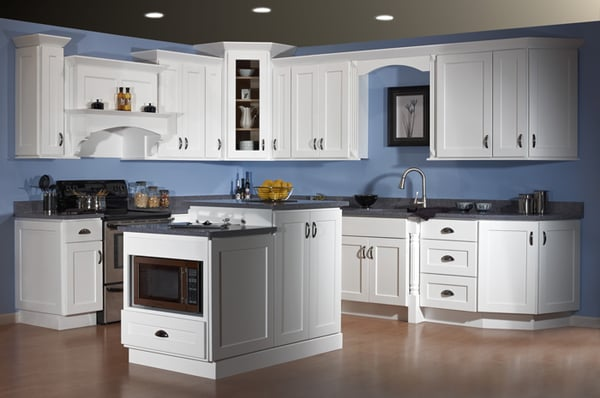 Dover White Shaker Kitchen Cabinets  Yelp