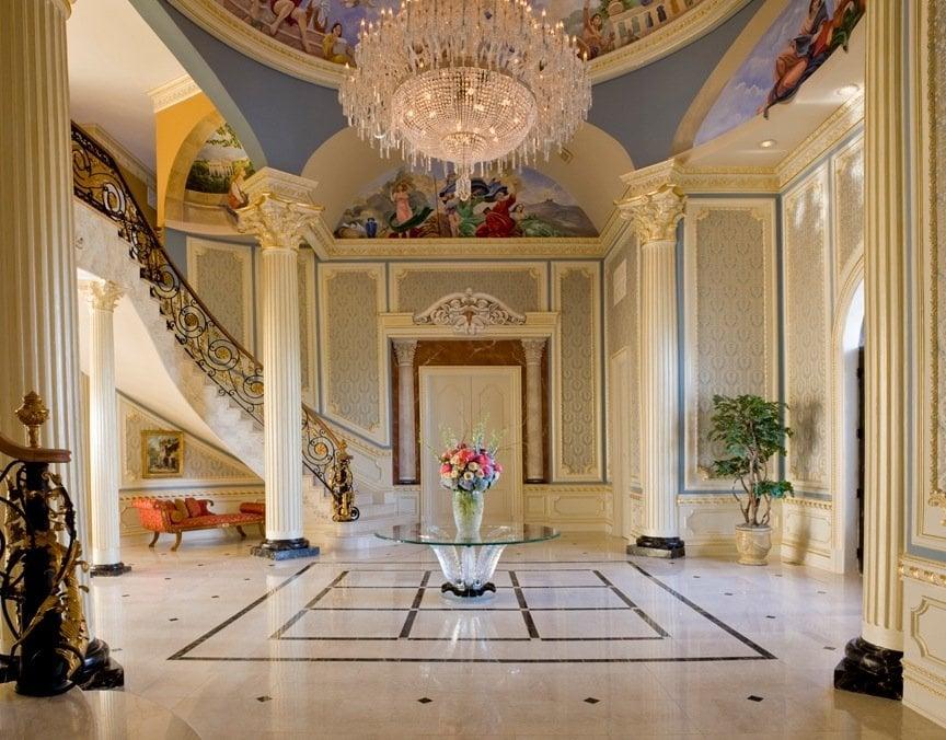 Luxury interior design foyer haleh design inc yelp - Luxury foyer interior design ...
