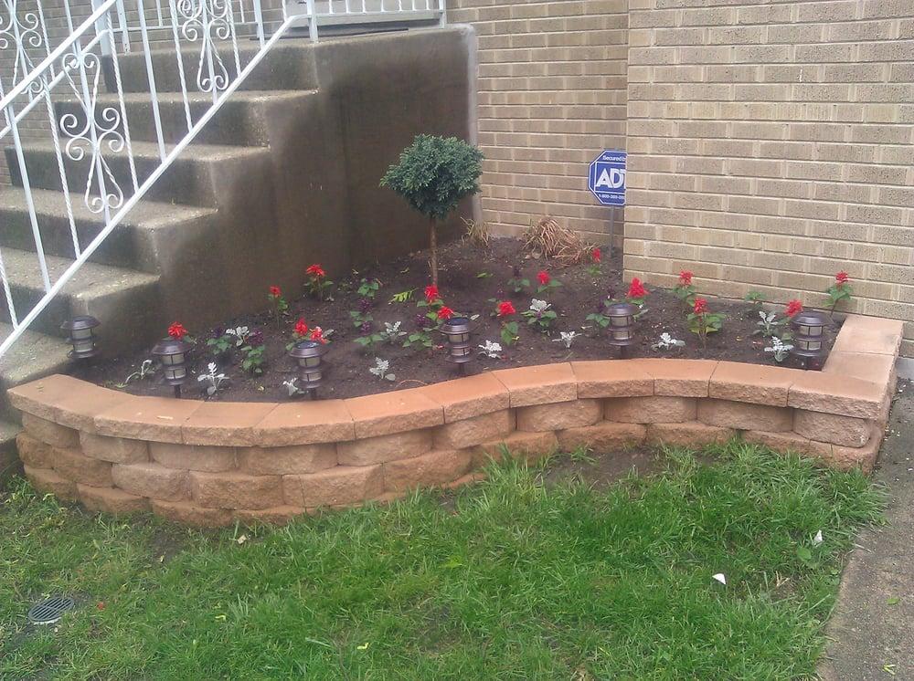 Raised flower bed yelp for Landscaping bricks