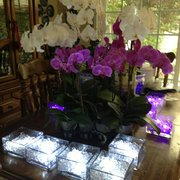 Orchids Vases Tea Lights All Purchased At The L A Flower