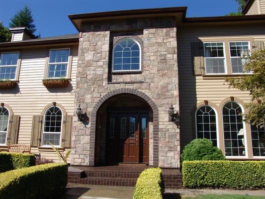 complete exterior remodel beaverton cultured stone