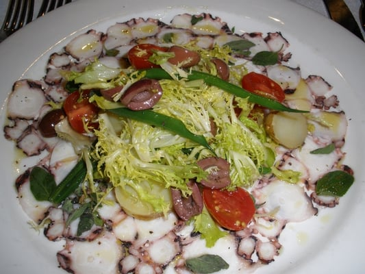 octopus salad, baby potatoes, radicchio | Yelp
