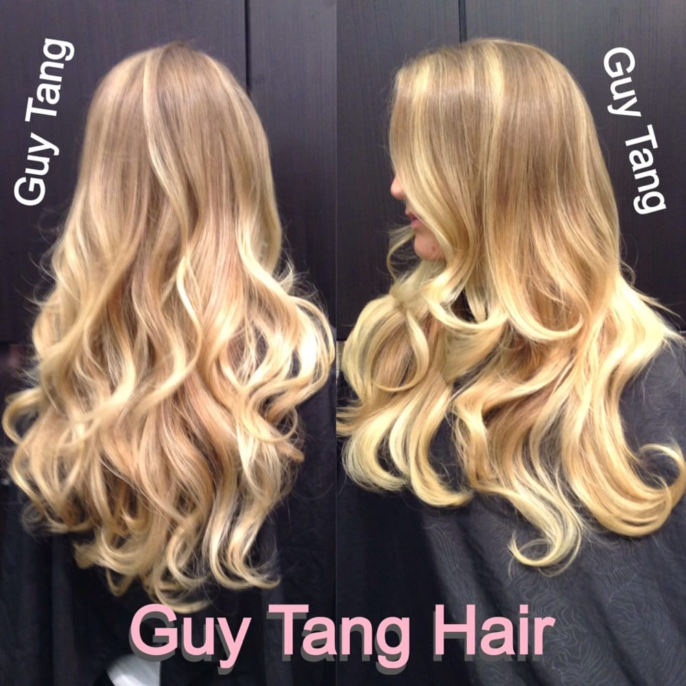Blonde on blonde balayage highlight ombré by Guy Tang  Yelp