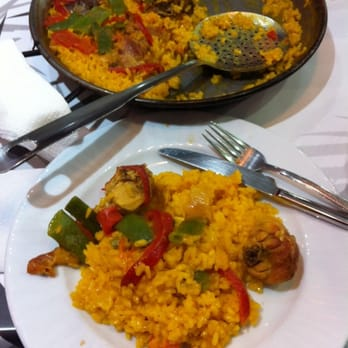 Paella Valencia huge portions for two!