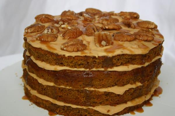 Pumpkin cake w/ dulce de leche cream cheese frosting | Yelp