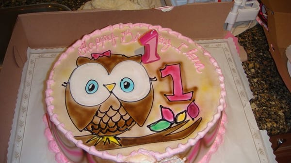 how to make an owl cake step by step