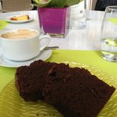 Chocolate cake. Huge serving and just 8.20 euro for cake and coffee
