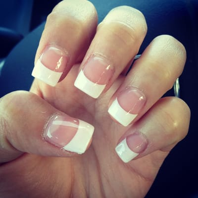 White tip acrylic with gel | Yelp