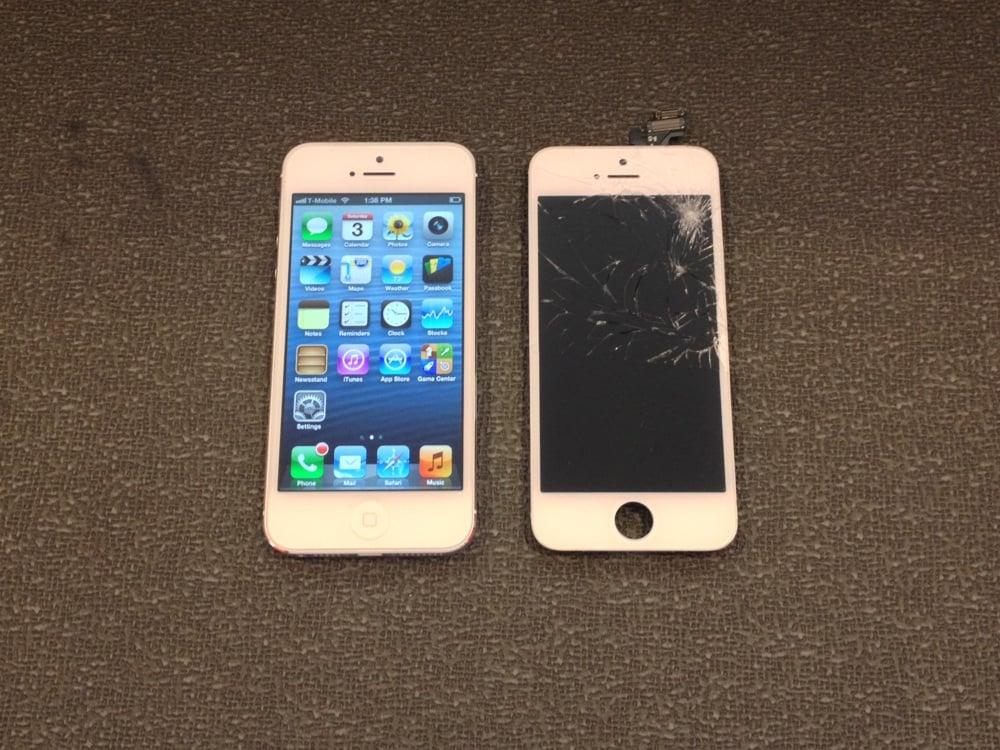 iphone 5 broken screen replaced yelp
