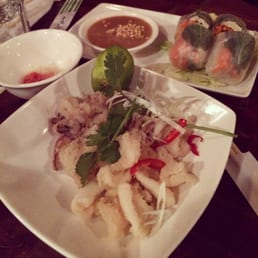 Crispy Squid and Summer Rolls