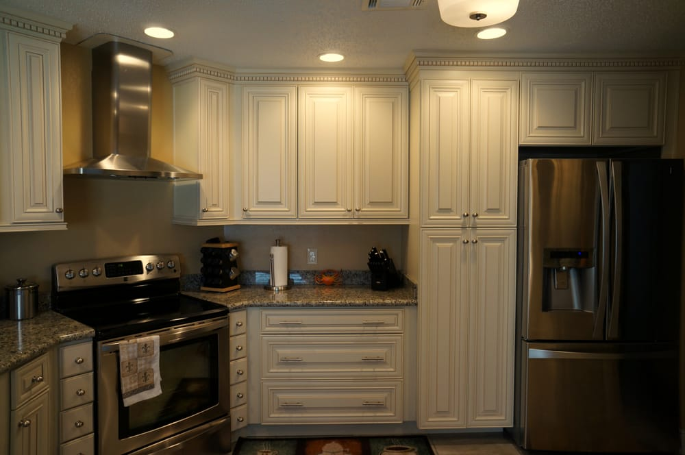 ... Maple Cabinets w/Caramel Glaze; Butterfly Yellow Countertops Yelp