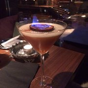 Flaming cocktail