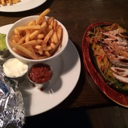 Chicken Fajitas with fries