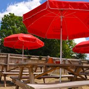 Enjoy chilled larger and real ales in the beer garden at The Red Lion of Longwick.