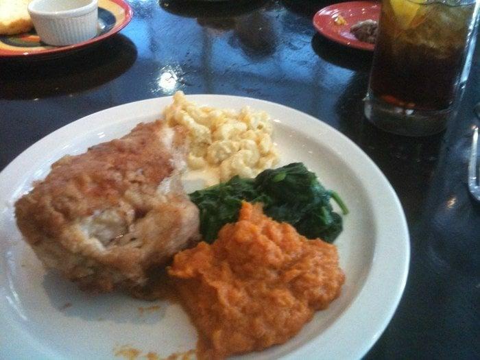 ... Fried Chicken, Mac & Cheese, Wilted Spinach, Sweet Potato Mash | Yelp