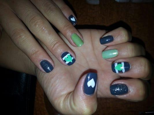 Pink Dallas Cowboys Nails Designs