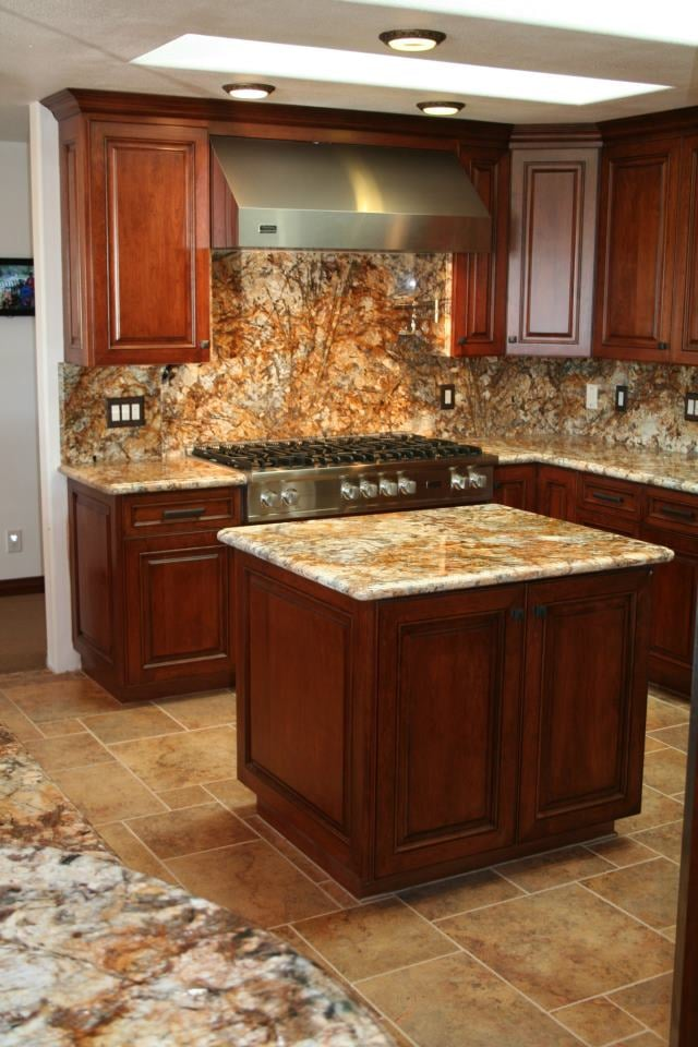 Cherry Wood Cabinets With Granite Countertops Yelp