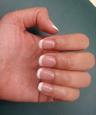 Gel French manicure. Esthetician: Kim. | Yelp
