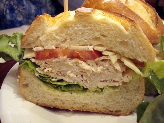 turkey + havarti cheese sandwich