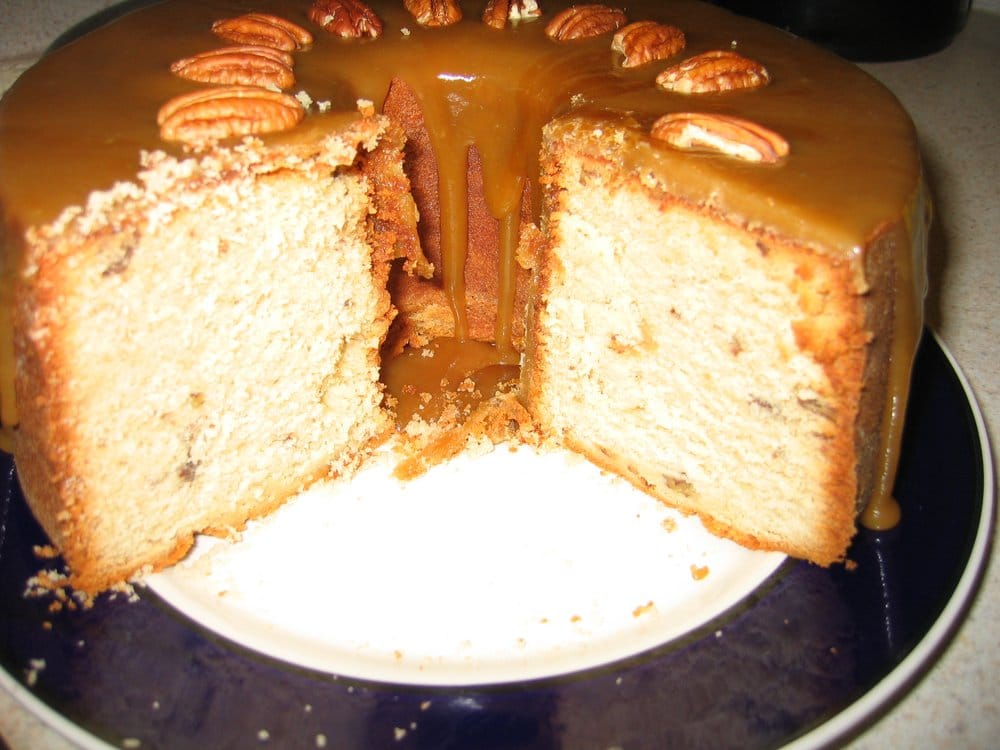 Caramel Pound Cake w/roasted Pecans | Yelp