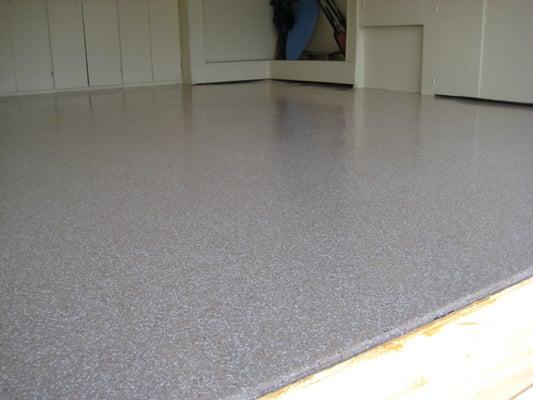 Liquid Granite Applied To Garage Floor Yelp